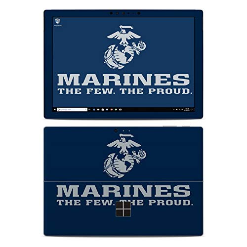 - USMC Blue Protector Skin Sticker Compatible with Microsoft Surface Pro 6 - Ultra Thin Protective Vinyl Decal wrap Cover