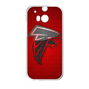 Atlanta Falcons Team Logo HTC One M8 Cell Phone Case White persent zhm004_8450968