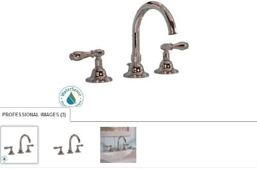 Martha Stewart Living Seal Harbor 8 In Widespread 2 Handle High Arc Bathroom Faucet Polished Nickel Touch On Sink Faucets Amazon Com