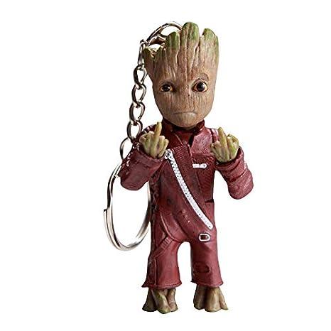 thematys® Baby Groot Llavero - Figura de acción de la película clásica - Perfecto como Regalo - I Am Groot (Dedo Medio)