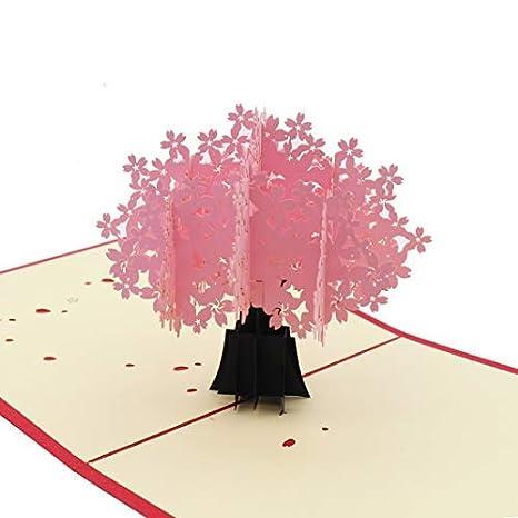 Amazon.com: Tarjetas 3D desplegables, amor, cumpleaños ...