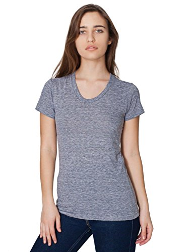 - American Apparel Women's Tri-Blend Short Sleeve Women's's Track T-Shirt Size M Athletic Grey