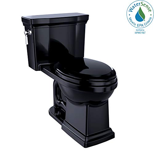 TOTO MS814224CEFG#51 Promenade II One-Piece Elongated 1.28 GPF Universal Height Toilet Ebony