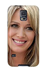 Fashion Protective Cute Smile Hilary Duff Celebrities Case Cover For Galaxy S5