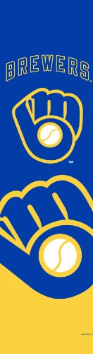 MLB Milwaukee Brewers Team Color and Logo Door Banner