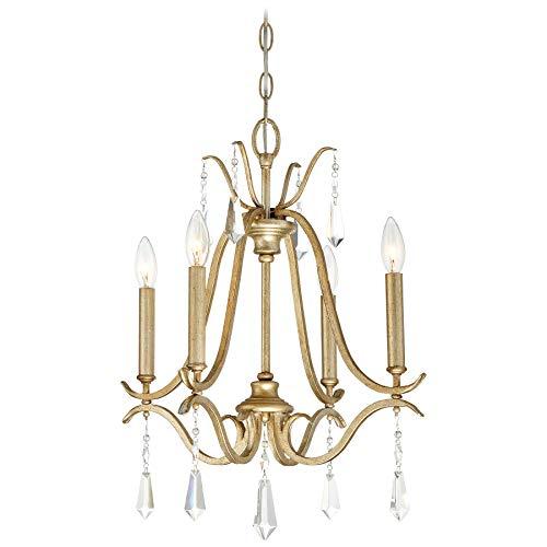 Crystal Gold Laurel Chandelier (Minka Lavery Chandelier Lighting 4444-582 Laurel Estate, 4-Light 240 Watts, Brio Gold)