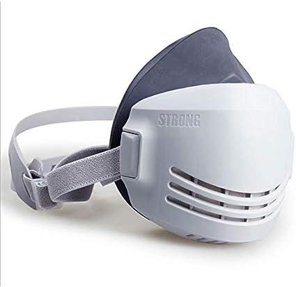 ONEWDJ, respirador de media cara, filtro, protección ocular, protección respiratoria, máscaras industriales de protección contra el polvo, máscaras de gas (con 5 filtros)