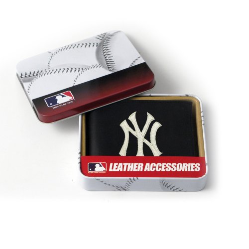 MLB New York Yankees Embroidered Genuine Cowhide Leather Billfold ()