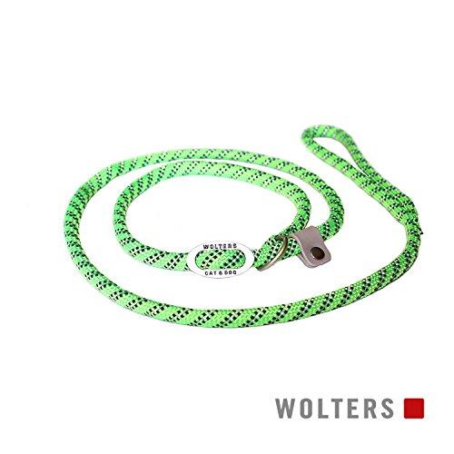 Wolters | Moxonleine Everest reflektierend lime/schwarz | L 180 x B 1,3 cm