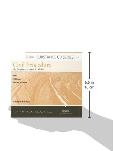 Sum and Substance Audio on Civil Procedure