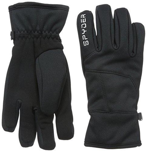 Spyder Kids Glove - Spyder Boys Facer Conduct Glove Liner, Medium, Black