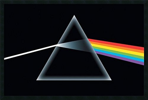 Framed Art Print, 'Pink Floyd - Dark Side of the Moon': Outer Size 37 x 25