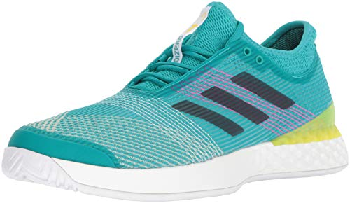 - adidas Men's Adizero Ubersonic 3 Tennis Shoe White/Legend Ink/Shock Yellow 10 M US
