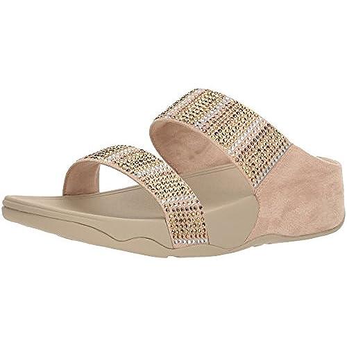 57deb4c06990e0 FitFlop Women s Flare Strobe Slide Sandals low-cost - test ...