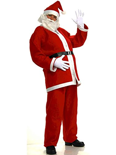 Forum Novelties Men's Plus-Size Simply Santa Costume, Red/White, XX-Large - Plus Size Santa Costumes