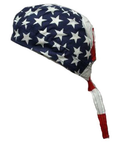 Doo Rag, Stars American Flag, 100% Cotton, One Size Fits All, 19703