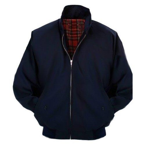 Relco Mens Classic Harrington Jacket Navy L
