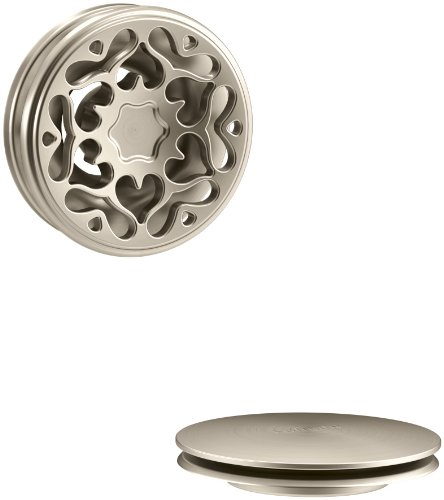 KOHLER K-T37397-BV PureFlo Cable Bath Drain Trim with Victorian Push Button Handle, Vibrant Brushed Bronze by Kohler