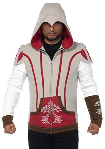 Assassin Ezio Costumes (Leg Avenue Men's Assassins Creed Ezio Officially Licensed Hoodie Costume, Multi, Medium)