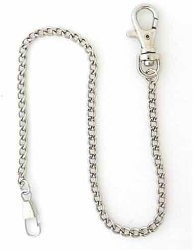 Desperado Heavy Duty Chrome Plated Silver Tone Pocket Watch Chain