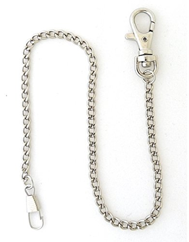 Chain Pocket Watch Silver Tone (Desperado Heavy Duty Chrome Plated Silver Tone Pocket Watch Chain)