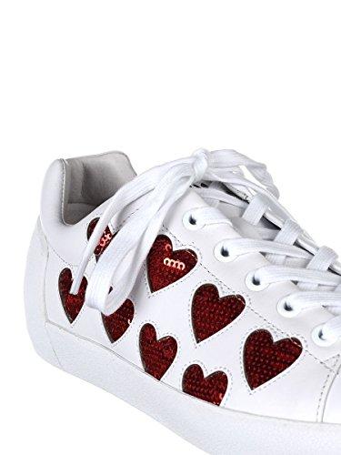 Ash Women's NIKITA01 White Leather Sneakers 44ivt