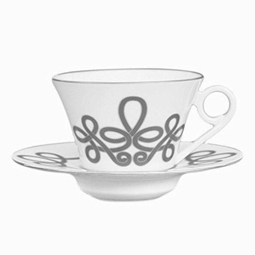Haviland China Brandebourg Platinum Tea Cup & Saucer