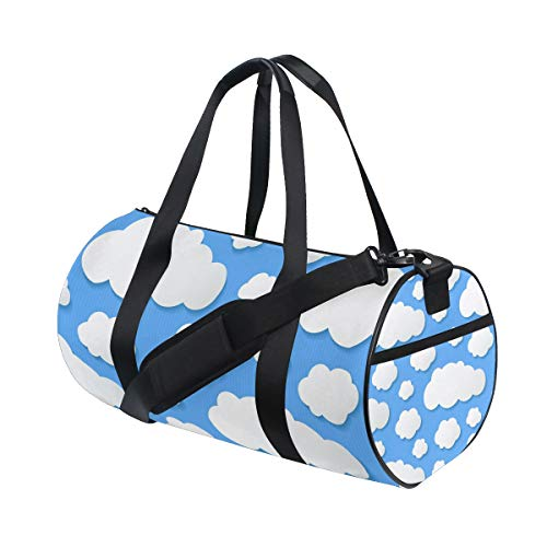 - Rooftop Rack Bag Lightweight Canvas Gym Bag Sports Gym Bag Travel Duffel Bag Travel Bags For Women And Men Stripe Clouds Wall Decal