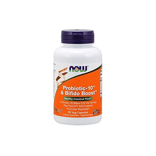 NOW Foods Probiotic-10 & Bifido Boost, 90 Vegetable Capsule