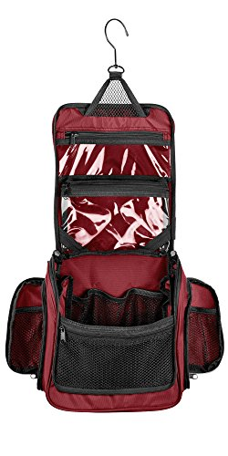 Medium Size Hanging Toiletry Bag with Detachable TSA Complia