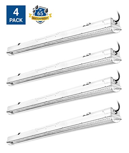 Hyperikon LED Vapor Proof Fixture 70W (150W Eq),7100Lm, 5000K (Crystal White Glow), UL & DLC 4.2, Clear Cover, Waterproof, IP65,120-277v, Garage lighting, Car Wash, Warehouse, Walk in Freezer, 4-Pack
