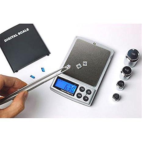 Amazon.com: Funnytoday365 500G X 0.01G Mini Basculas Precision Digital Pocket Scale Gold 0.01G Digital Scale Unit Of Measurement Pocket Electronic Scales: ...