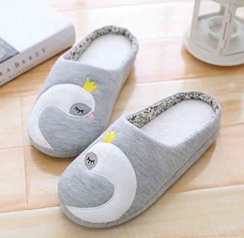 Calde Infradito In Casa Traspiranti Gdxh Per Calzature Morbide La Invernali Grigio E Nuovo Donna Da Pantofole Scarpe Cotone xwF6cvSqOw