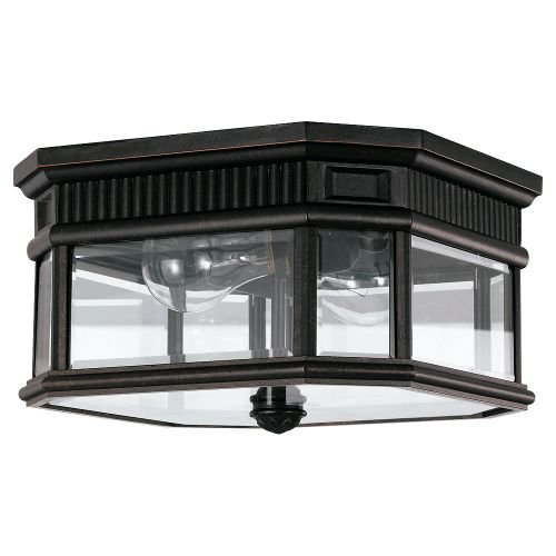Outdoor Pendant Cotswold Lane (Feiss OL5413GBZ-LED Cotswold Lane LED Outdoor Flush Mount, 2-Light, 28watts, Bronze (12