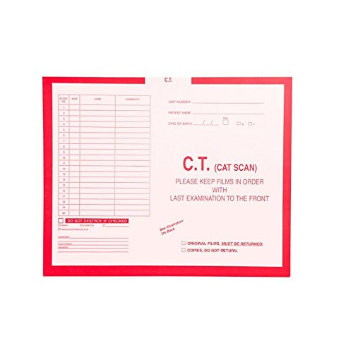 C.T. (Cat Scan), Red #185 - Category Insert Jackets, System I, Open Top - 14-1/4'' x 17-1/2'' (Carton of 250)