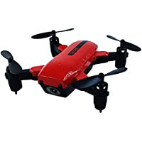Littleice Foldable L200 Mini Quadcopter Flashing Pocket Drone 2.4G Remote Control Helicopter With 2MP Camera (Red Without Camera)