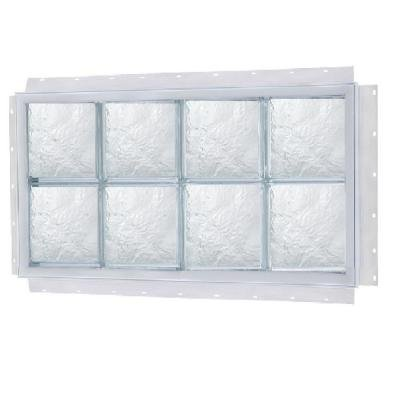 NAIL UP Ice Pattern Solid Glass Block Window