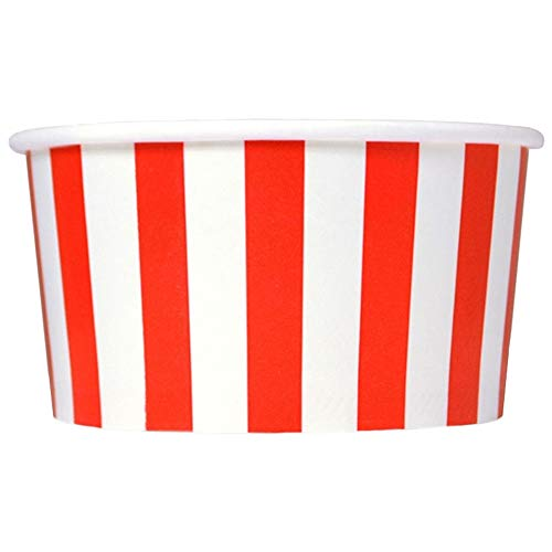 red and white ice cream cups - 3