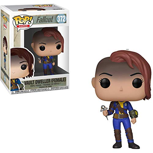 Funko Vault Dweller [Female]: Fallout x POP! Games Vinyl Figure & 1 PET Plastic Graphical Protector Bundle [#372 / 33975 - B]