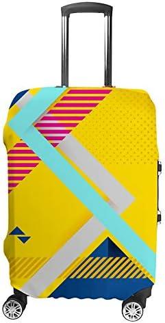 スーツケースカバー トラベルケース 荷物カバー 弾性素材 傷を防ぐ ほこりや汚れを防ぐ 個性 出張 男性と女性抽象的な背景テクスチャ