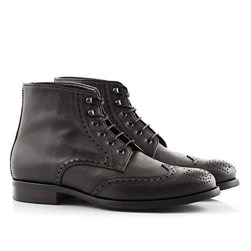 Bourgeois Boheme Adam Vegan Dress Boot In Nero