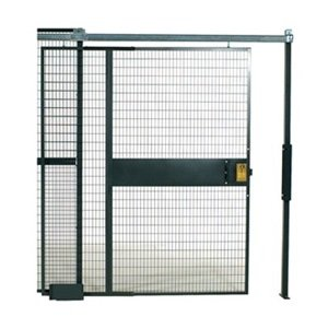 WireCrafters SD41010 840 Specs Slide Door Woven Wire Partition, Gray by Wirecrafters