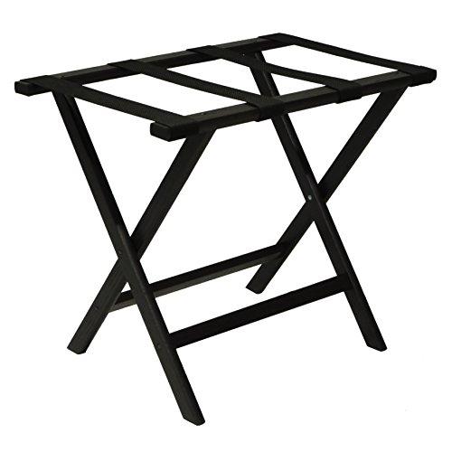 Wooden Mallet Straps, Black Deluxe Straight Leg Luggage Rack