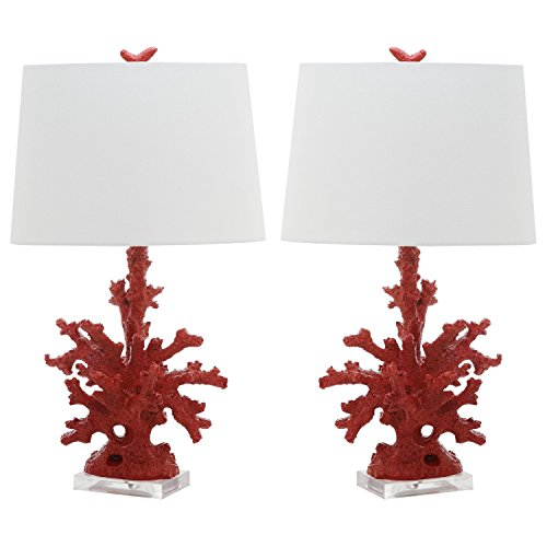 Safavieh Lighting Collection Coral Branch Red 28-inch Table Lamp (Set of 2)