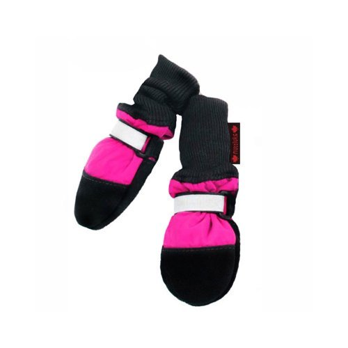 Muttluks Fleece Lined 2.25-Inch to 2.75-Inch Dog Boots, X-Small, Pink, Set of 4 by Muttluks