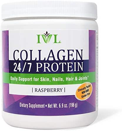 IVL Collagen 24/7 Protein Powder Daily Supplement, 30 Serving per Canister