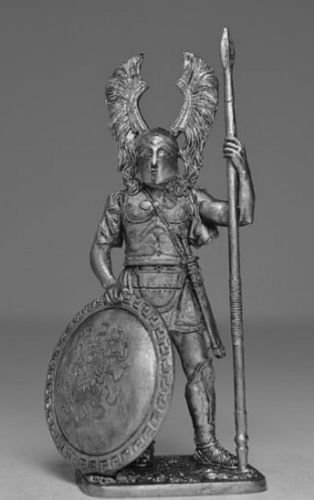 HISTORICAL TIN FIGURES HOPLITE WITH SPEAR AND SHIELD 5 - 6 BC 54MM 1/32 AG5 ()