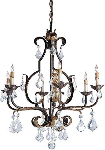 Currey & Company Chandelier Pendant Tuscan European Traditional 6-Lig