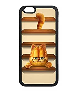 VUTTOO Iphone 6 Case, Garfield Shelves TPU Case for Apple iPhone 6 4.7 Inch Black