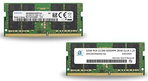 Adamanta 64GB (2x32GB) Memory Upgrade for 2019 Apple iMac 27 w/Retina 5K Display, Late 2018 Apple Mac Mini DDR4 2666Mhz PC4-21300 SODIMM 2Rx8 CL19 1.2v DRAM RAM